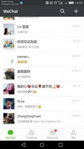 Główne okno WeChata