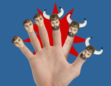 Ręka z Vikingowym PALCEM